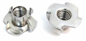 Escape Climbing Four Pronged Zinc T nuts 500 Pack Durable Steel Hardware