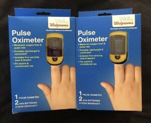 Walgreens Pulse Oximeter 20c Carrying Case Lanyard Brand New 2 Pack