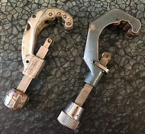 Lot Of 2 Pipe Tubing Cutter Ridgid 205 1 4 2 3 8 Imperial Eastman 206