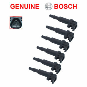 New Bmw Ignition Coil 6 Pack Updated W Connector Boot Genuine Bosch 0221504470