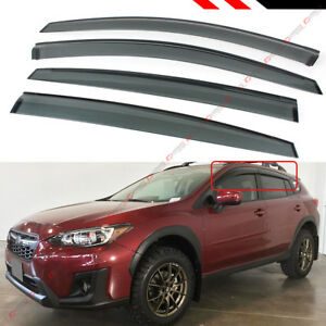 For 18 2021 Subaru Crosstrek Smoke Window Visor Rain Guard Vent Shade Deflector