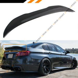 For 2011 17 Bmw F10 5 Series M5 Carbon Fiber High Kick Big Trunk Spoiler Wing
