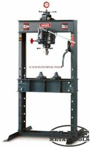 New Dake 75h Hydraulic Shop Press Hand Operated Industrial Grade 75ton