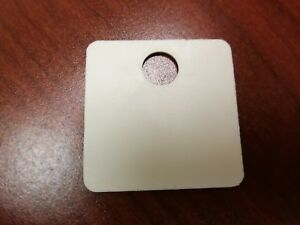 250 Pack White Plastic Inventory Id Tags 1 5 Square Tear proof