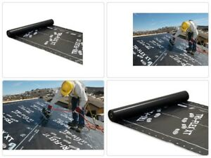 Roll Roofing Underlayment Leak Seal Deck Weather Resistant Black Synthetic