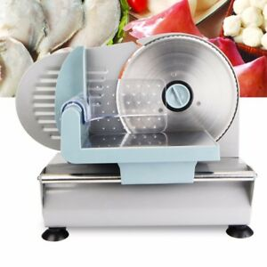 220v Electric Meat Mini Slicer Stainless Blade Bread Cutter Food Machine Kitchen
