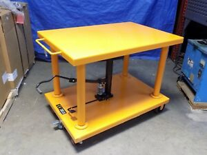 Heavy duty Hydraulic Post Lift Table 2000 Lb Capacity 48 X 32 Platform