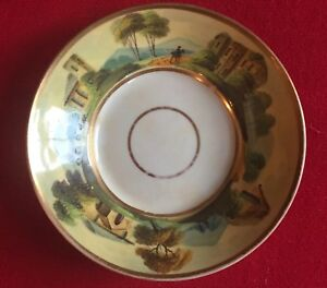 Antique Old Paris Porcelain Saucer Plate Dish Early19th Century French Empire