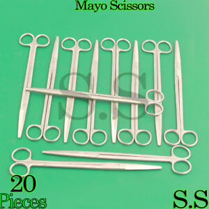 20 Mayo Dissecting Scissors 8 Straight Surgical Instruments