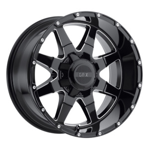 Set 4 17x9 12 8x170 Gfx Tr 12 Black Wheels Rims 17 Inch 59040