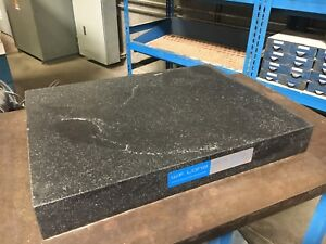W f Long Granite Surface Plate 18 X 24 X 3 No Ledges Stand