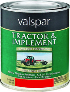 Valspar 4432 02 Tractor And Implement Enamel Paint 1 Qt Massey Ferguson Red