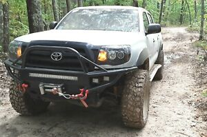 Custom 2005 2011 Toyota Tacoma Front Winch Plate Bumper Round Tubing Hybrid