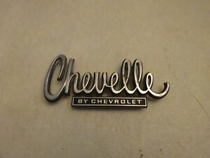 75 76 1974 1975 Chevelle By Chevrolet Diecast Trunk Emblem