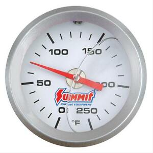 Two 2 Summit Mechanical Water Temperature Gauge 2 Dia White Face 350120