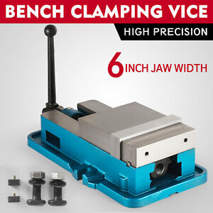 6 Lock Vise Milling Drilling Machine Bench Clamp Clamping Vice Precision Us