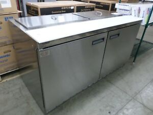 Delfield Refrigerated Sandwich Prep Table 4464n 16 With Lift Off Lids