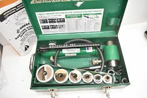 Greenlee 7506 Slug Splitter Hydraulic Knockout Set W 767 Hand Pump 1 2 2 Cond
