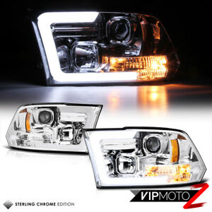 oled Tube 2009 2018 Dodge Ram 1500 2500 3500 Chrome Projector Headlights Lamps