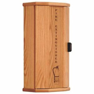 Wooden Mallet Fire Extinguisher Cabinet 5 Lb Capacity Medium Oak Fec10mo New