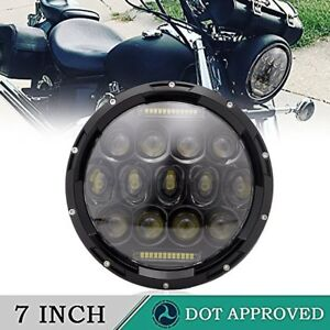 7inch For Harley Motorcycle Led Headlight Projector Hi lo Drl Hi lo Dot
