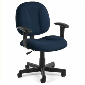 Bowery Hill Office Chair With Arms In Navy