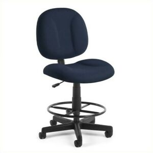 Bowery Hill Office Chair With Drafting Kit In Navy