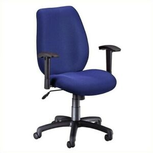 Bowery Hill Ergonomic Manager s Chair With Adjustable Arm In Blue