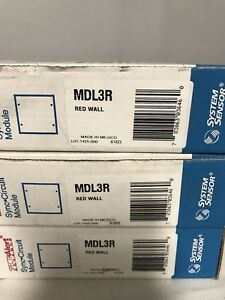 New System Sensor Spectralert Mdl3r Red Wall Sync Circuit Module