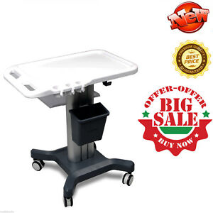 Mobile Trolley Cart Trolley Wheel Stand hand Push for Ultrasound Scanner