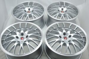 4 New Ddr Vega 17x8 5x114 3 30mm Silver Polished Lip 17 Rims Wheels