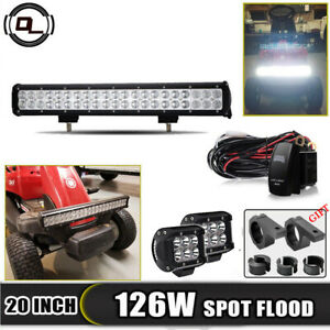 20 inch 22 Led Light Bar Spot Flood Offroad 4wd Truck Atv Suv Lawn Mower 22