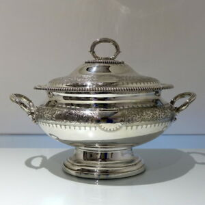 19th Century Antique Victorian Silver Plate Soup Tureen Cover Circa 1865