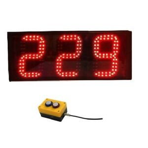 6 Large Digital 3digit Laps To Go Timer Led Digital Counter With Buttons