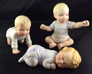 3 Vintage Doulton Noteable Namesakes Porcelain Baby Piano Baby Doulton Intl