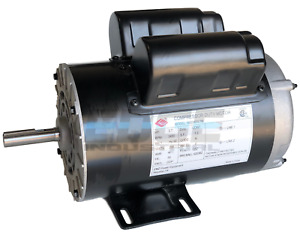 New 3 7hp Compressor Duty Electric Motor 56fr 3450rpm Replaces 5hp Spl Motors