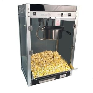 Commercial Popcorn Popper Large Machine Pop Corn Maker High Output Theater Store