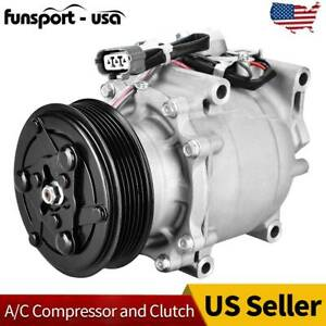 A C Compressor And Cluth For 2002 2005 2003 2004 Honda Civic 38810p5m016