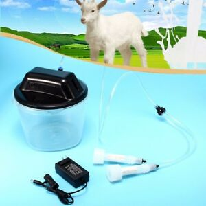 5 5l 1 5 Gal Electric Farm Milking Machine Goat Sheep Cow Milker Vacuum Barrel