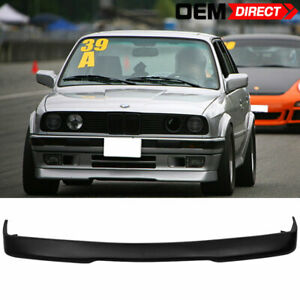 For 84 92 Bmw E30 3 series Rg Style Front Bumper Lip Spoiler Black pu