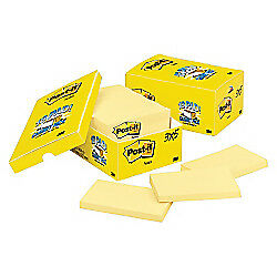 Post It r Notes 3in X 5in Canary Yellow Pack Of 18 Pads