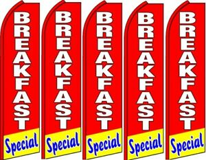 Breakfast Special King Swooper Flag buy 5 Get 1 Free hardware Not Included