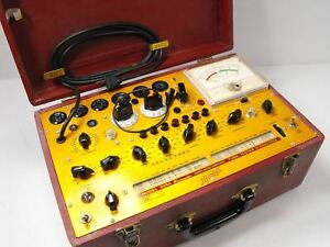 Hickok 605a Microhmo Dynamic Mutual Conductance Tube Tester Sn 144 0185