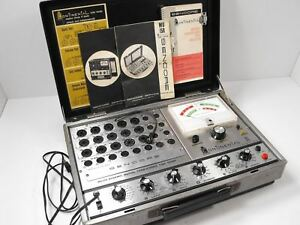 Sencore Mu150 Continental Ii Tube Tester For Parts Or Restoration Sn 810739