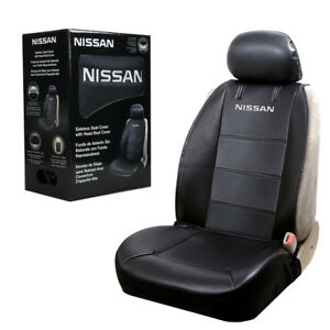 Nissan Synthetic Leather Sideless Car Truck Front Seat Cover Headrest Cover