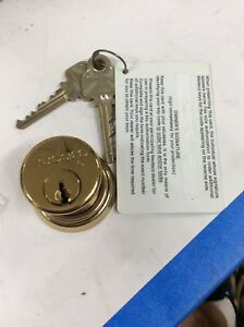 Medeco Mortise Cylinder Bright Brass