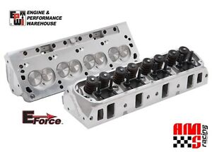 E force Hp By Edelbrock Aluminum Cylinder Heads Pair For Sbf Ford 170cc 60cc