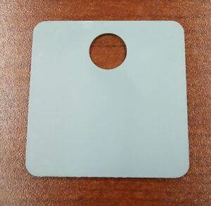 250 Pack Gray Plastic Inventory Id Tags 1 5 Square Tear proof And Waterproof