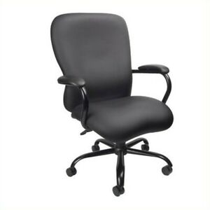 Scranton Co Big Tall Office Chair In Black 350 Lb Capacity