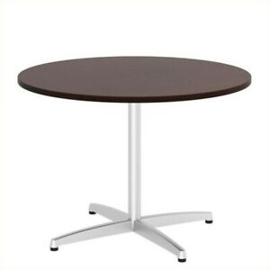 Scranton Co 42w Round Conference Table In Metal X Base